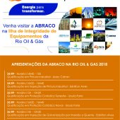 Confira a programação da ABRACO na Rio Oil & Gas 2018
