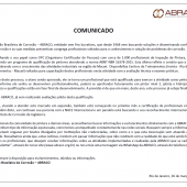 Comunicado Oficial da ABRACO