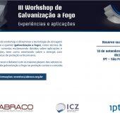 III Workshop de Galvanização - Reserve sua agenda!
