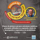 Palestra sobre Planos de Pintura a Pó - Rodada de Palestras Técnicas Online da ABRACO