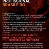 ABRACO em defesa do profissional brasileiro
