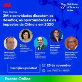 Palestra sobre os desafios, as oportunidades e os impactos da Ciência em 2020