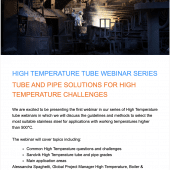 Webinar: Tube and Pipe solutions for High Temperature Challenges | SANDVIK