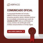 Comunicado sobre emissão de certificados